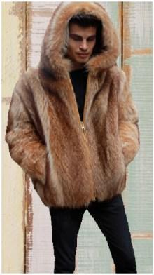 mens bomber fur jacket