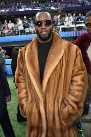 P Diddy Whiskey Mink Coat Super Bowl 2018