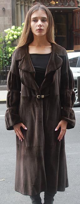 Brown Sheared Mink Coat