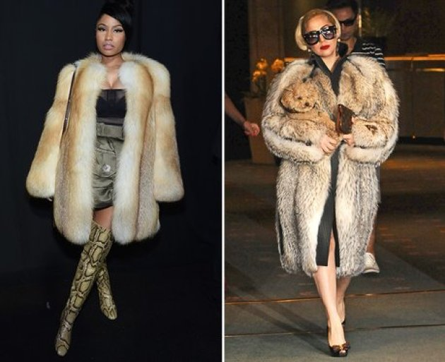 Nicki Minaj Has Strong Fur Game