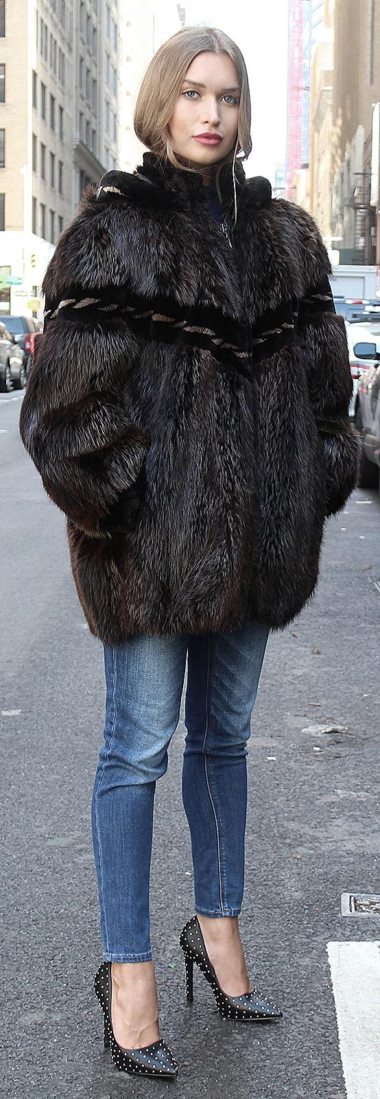 woman fur jackets