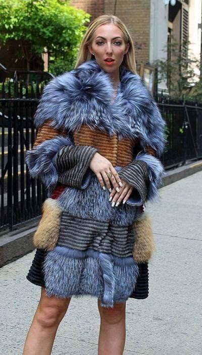 silver fox blue iris whiskey mink stroller