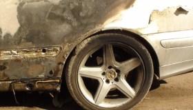 K. Krisko Skambinės sudegęs automobilis Mercedes 05