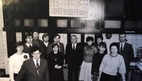 R. Baltrušis (viduryje) KTU Cheminės technologijos fakultete