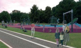 Neries krantinės parkas - vizualizacija