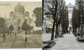 Kauno šv. arkangelo Mykolo (Įgulos) bažnyčia arba tiesiog Soboras apie 1920-1921 m.
