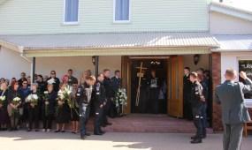 Pareigūno S. Žymanto laidotuvės