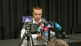 P. Motiejūnas per spaudos konferencija