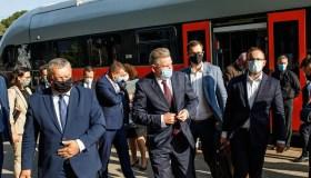 Jaroslavo Narkevičiaus ir Lenkijos infrastruktūros ministro Andžėjaus Adamčyko spaudos konferencija