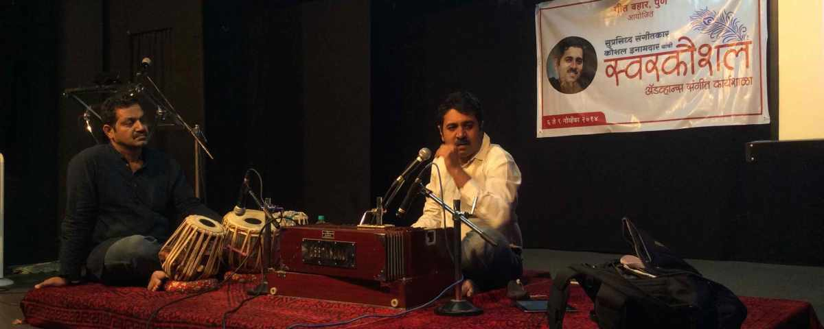 Kaushal Conducting a Workshop for singers