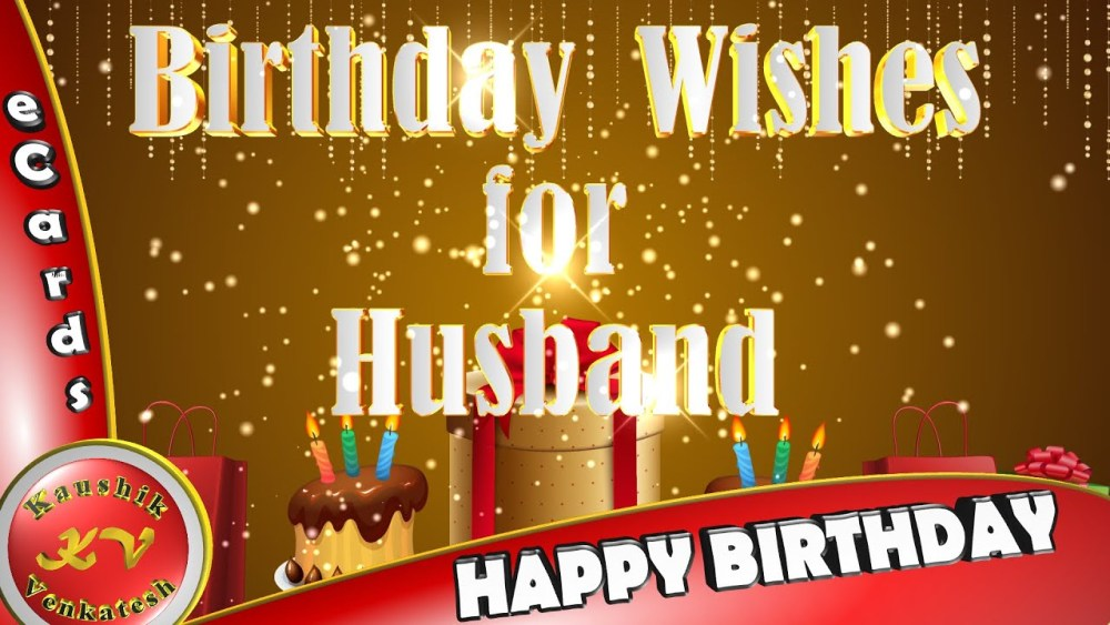 Greetings for Husband's Birthday