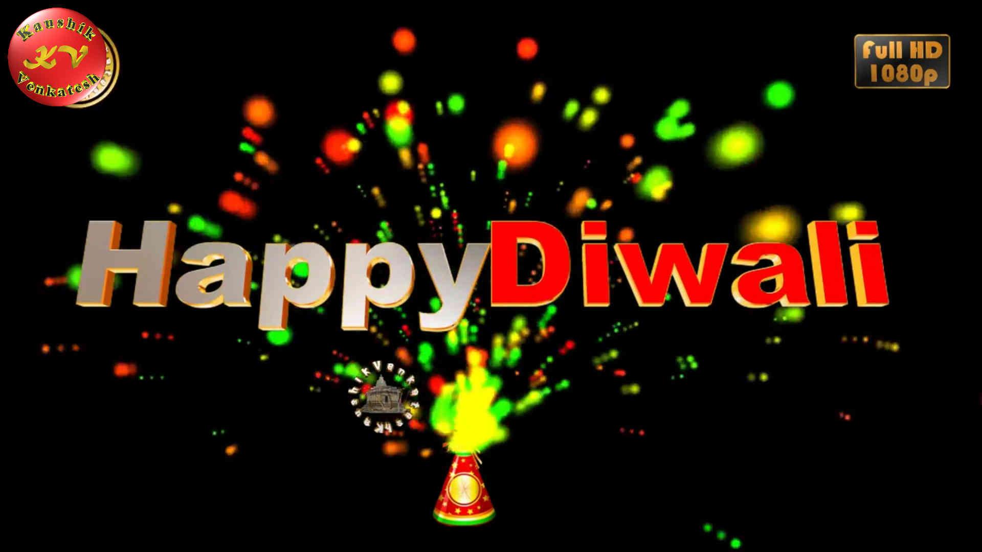 Happy Diwali Wishes (Flower Pot Fireworks)