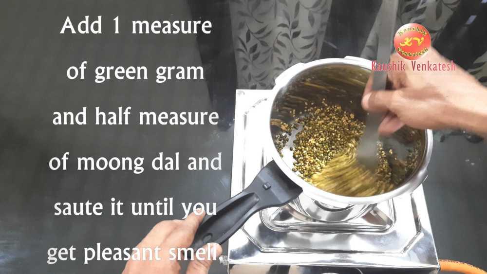 Ven Pongal Recipe Step 3