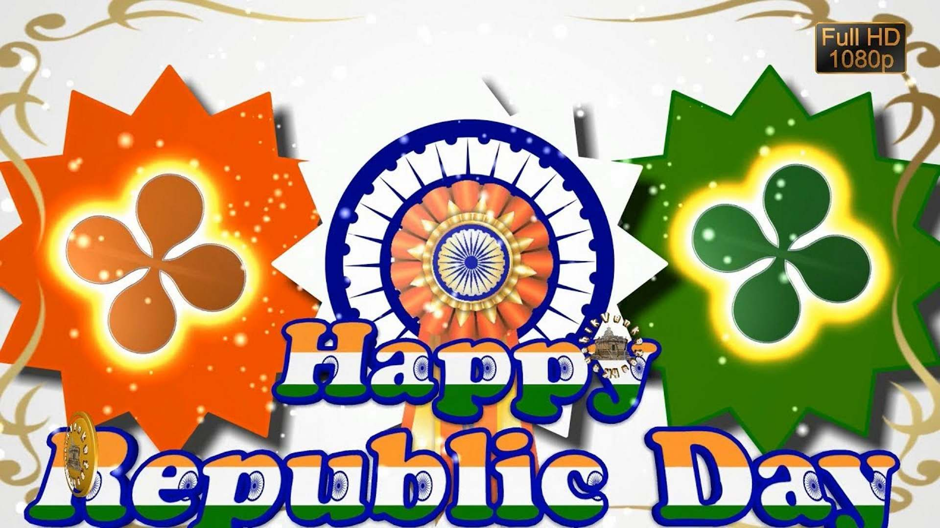 Greetings Images of Indian National Festival (January 26) to greet your dear Indian anywhere in the world Happy Republic Day.