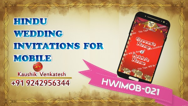 Product Image of Hindu Wedding Invitation Video for Mobile