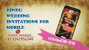Video of Hindu Wedding Invitation for Mobile
