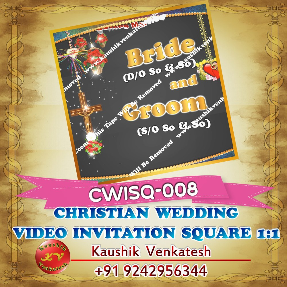 Product Image of Personalized Happy Wedding Wishes Video