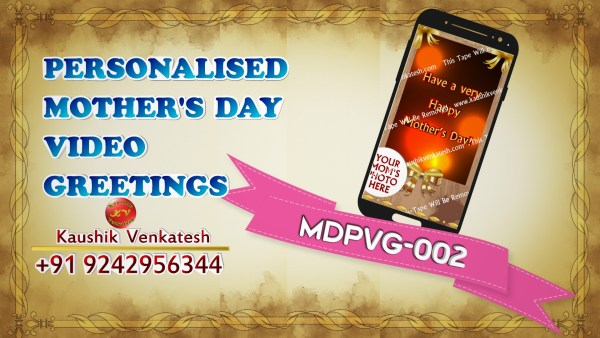 Product Image of Personalized Happy Mothers Day Wishes Video