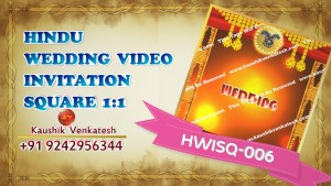 Square Video of Hindu Wedding Invitation for Mobile (Facebook)