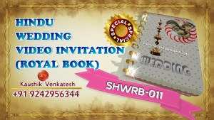 Video of Special Indian Royal Wedding Invitation for Hindu in Full HD