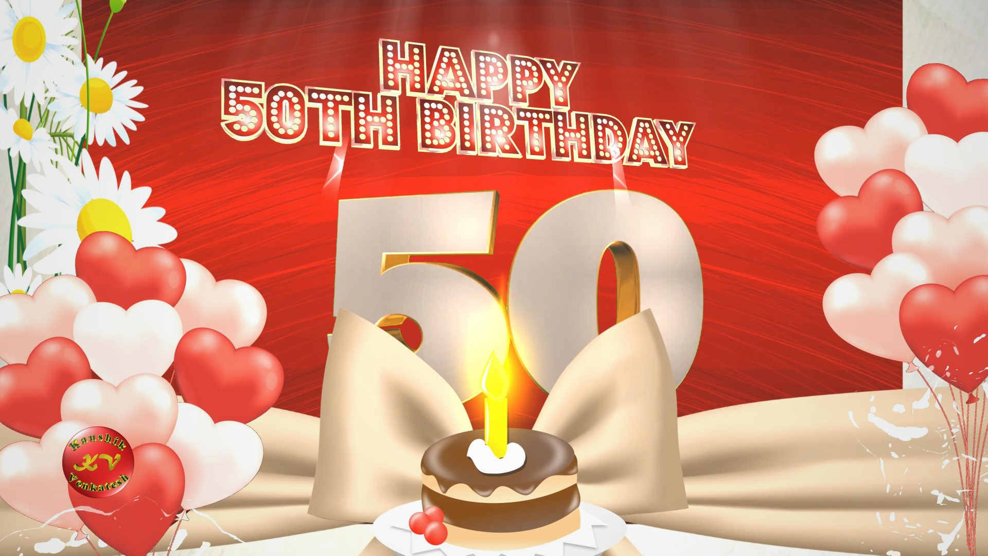 Image of 50th Happy Birthday Wishes Video