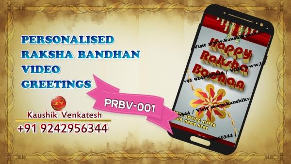 Product Image of Personalized Raksha Bandhan Wishes Video