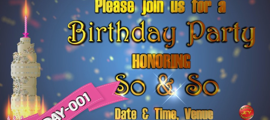 Product Image of Happy Birthday Invitation Video