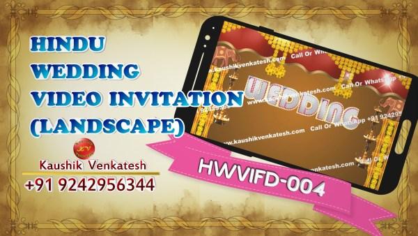 Product Image of Digital Hindu Wedding Invitation Video in Full HD