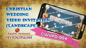 Product Image of Christian Wedding Invitation Video Cards in Full HD