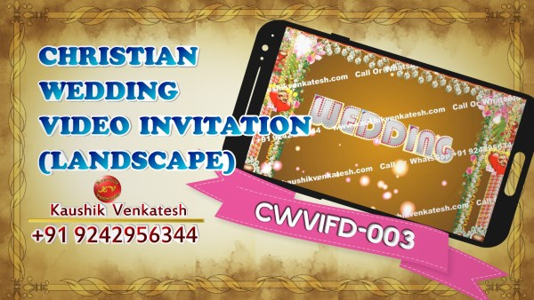 Product Image of Christian Wedding Invitation Video (Golden Brown) in Full HD