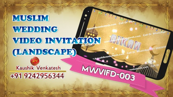 Product Image of Digital Muslim Wedding Invitation Video in Full HD