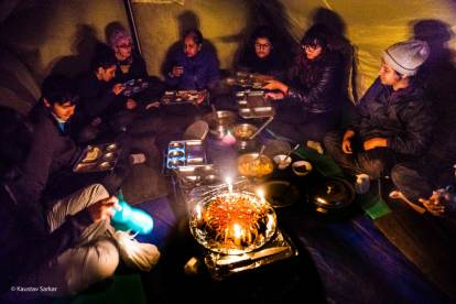Hampta Pass Trek- Last Dinner together