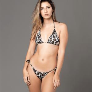 Tango Bikini Brown Cheetah bikini front animal print traje de bano