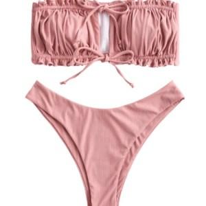 Bikini Strapless Sweet Pink de dos piezas