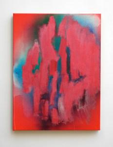 """RGB, 2013, acrylic and acrylic spraypaint on canvas, 24"""" x 20"""""""