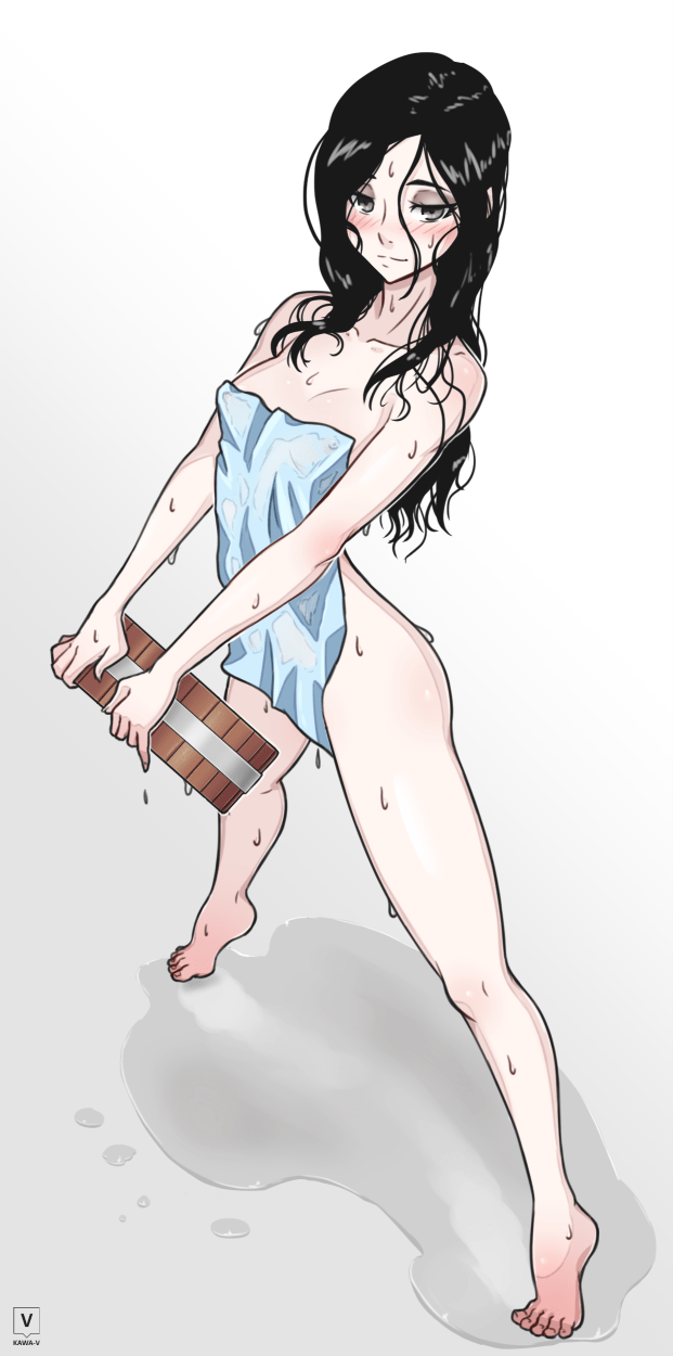 girl with towel
