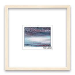 winter cloud 限定枚数50 画:6x8cm 額:20×20角2cm厚み  白木 日本製 アクリル板面 材質:紙/顔料インク 技法:ジクレー ¥5,000-