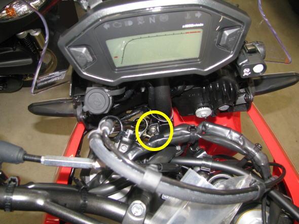 ホンダ CRF250RALLY 分離型ETC取付 ETCランプ取付位置