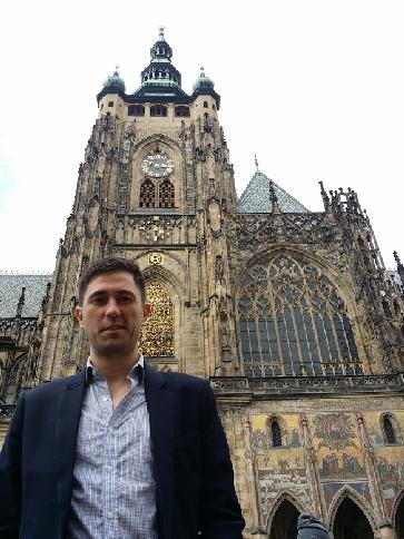The original of me in front of Prague Castle