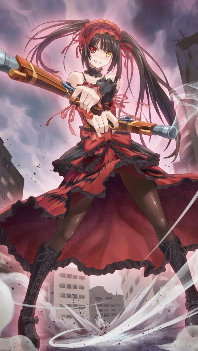 Download anime & wallpapers and enjoy it on your iphone, ipad, and ipod touch. Date a Live 2.Kurumi Tokisaki iPhone 5 wallpaper.640x1136
