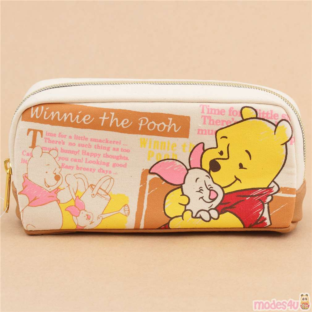 Cute Natural Color Winnie The Pooh Piglet Pencil Case From Japan Modes4u