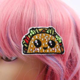 Kawaii Taco Cute Crystal Hair Clip