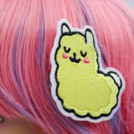 Kawaii Llama Hair Clips in Yellow