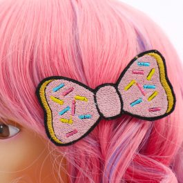 Donut Hair Bow For Girls