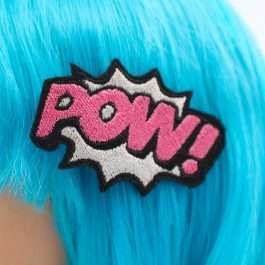 Comic Book Pow! Hair Clip – Pink and Silver