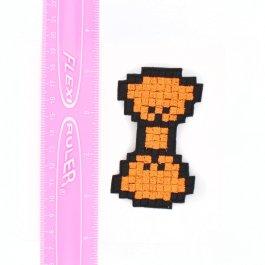 Neon Bow – Orange Pixel Hair Bows