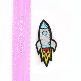 Retro Rocket Ship Cute Hair Clip