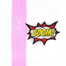 Comic Book Accessory BOOM! Hair Clip – Red and Yellow