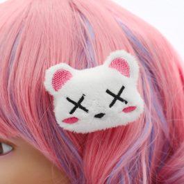 Kawaii Dead Bear Plush Hair Clip