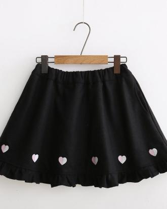 Japanese winter wool skirt